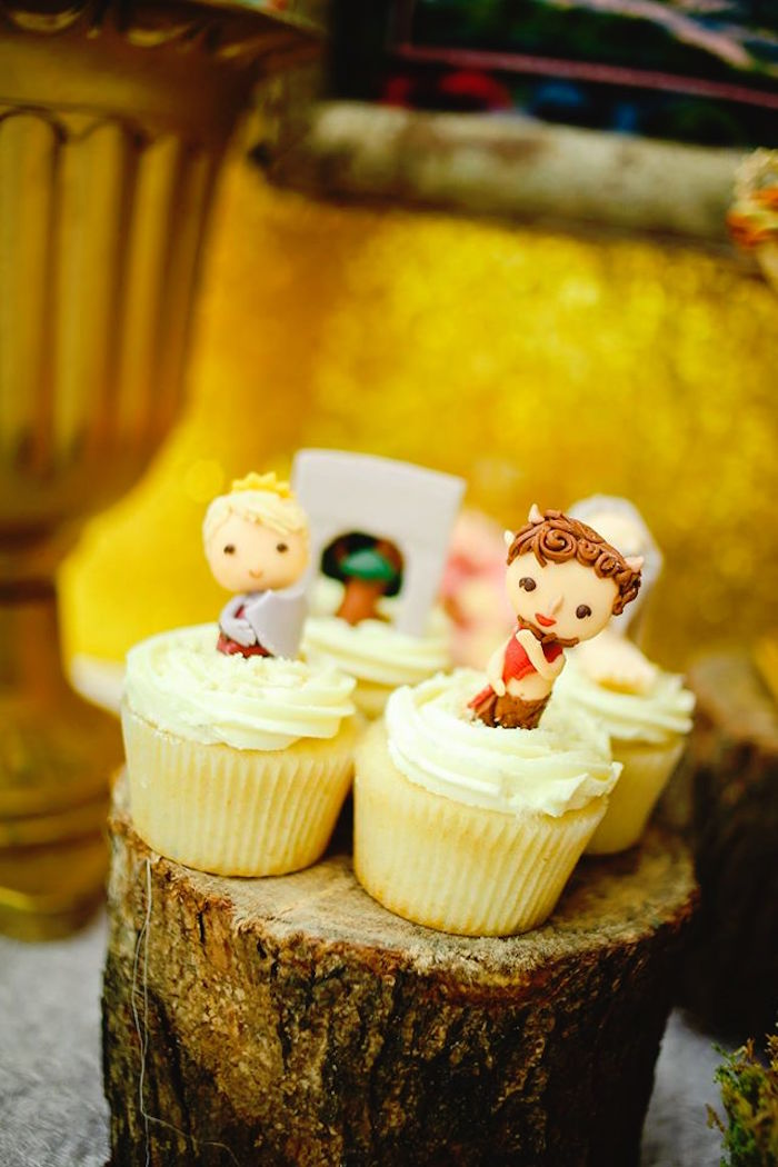 Cupcakes from a Prince Caspian Themed Birthday Party via Kara's Party Ideas | The Place for All Things Party! KarasPartyIdeas.com (14)