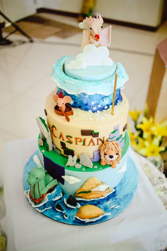 Cake from a Prince Caspian Themed Birthday Party via Kara's Party Ideas | The Place for All Things Party! KarasPartyIdeas.com (11)