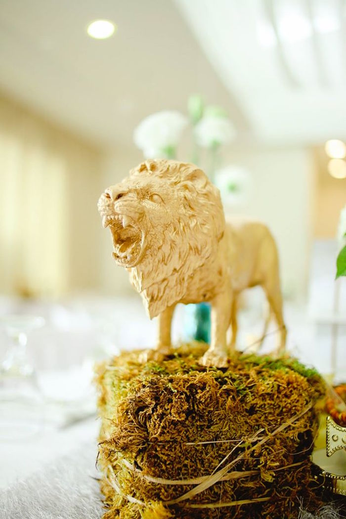Aslan the Lion Centerpiece from a Prince Caspian Themed Birthday Party via Kara's Party Ideas | The Place for All Things Party! KarasPartyIdeas.com (10)
