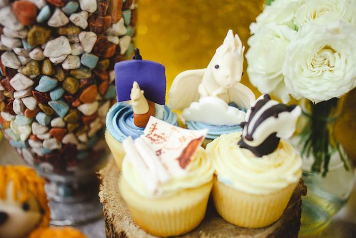 Cupcakes from a Prince Caspian Themed Birthday Party via Kara's Party Ideas | The Place for All Things Party! KarasPartyIdeas.com (7)