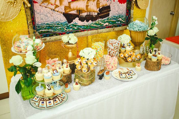 Sweet Table from a Prince Caspian Themed Birthday Party via Kara's Party Ideas | The Place for All Things Party! KarasPartyIdeas.com (6)
