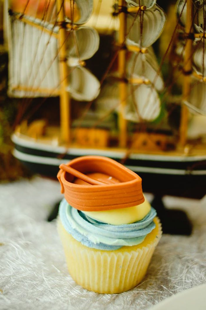 Cupcake from a Prince Caspian Themed Birthday Party via Kara's Party Ideas | The Place for All Things Party! KarasPartyIdeas.com (4)