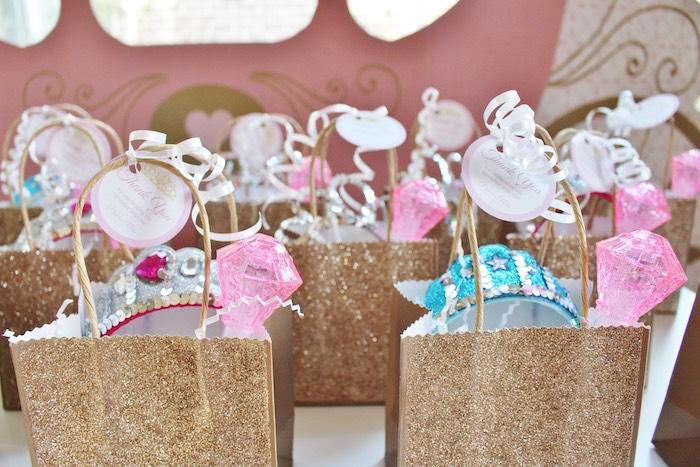 Favor Bags From A Princess Birthday Party Via Kara S Ideas Karaspartyideas