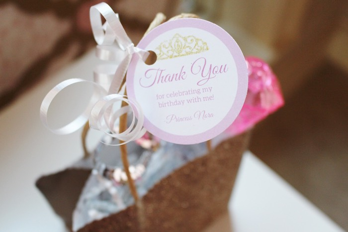 Favor Bag Tag from a Princess Birthday Party via Kara's Party Ideas | KarasPartyIdeas.com (25)