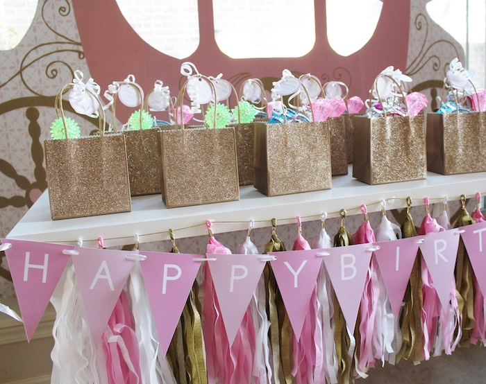 Favor Bag Table from a Princess Birthday Party via Kara's Party Ideas | KarasPartyIdeas.com (23)