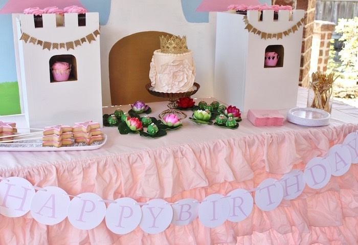 Sweet Table from a Princess Birthday Party via Kara's Party Ideas | KarasPartyIdeas.com (19)