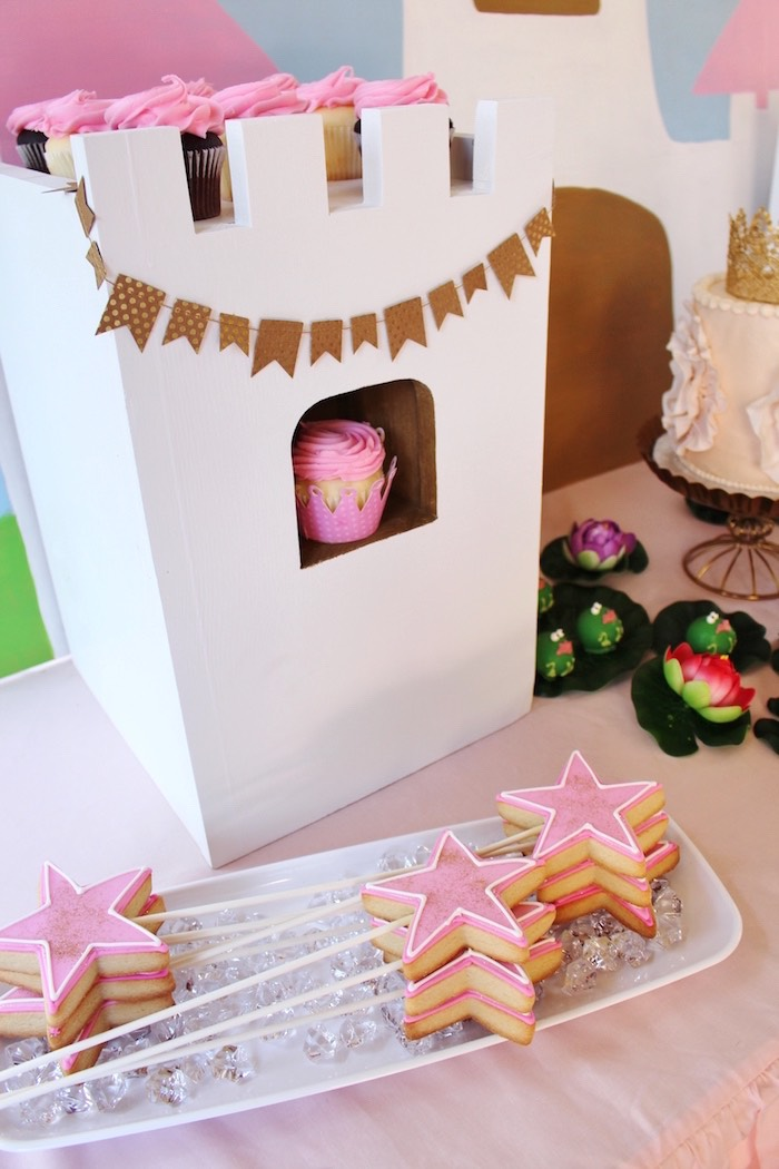 Sweet Table Details from a Princess Birthday Party via Kara's Party Ideas | KarasPartyIdeas.com (18)