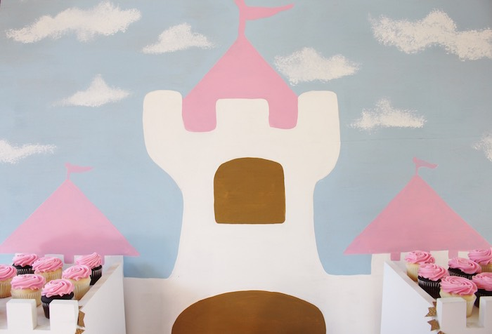 Castle Backdrop from a Princess Birthday Party via Kara's Party Ideas | KarasPartyIdeas.com (15)