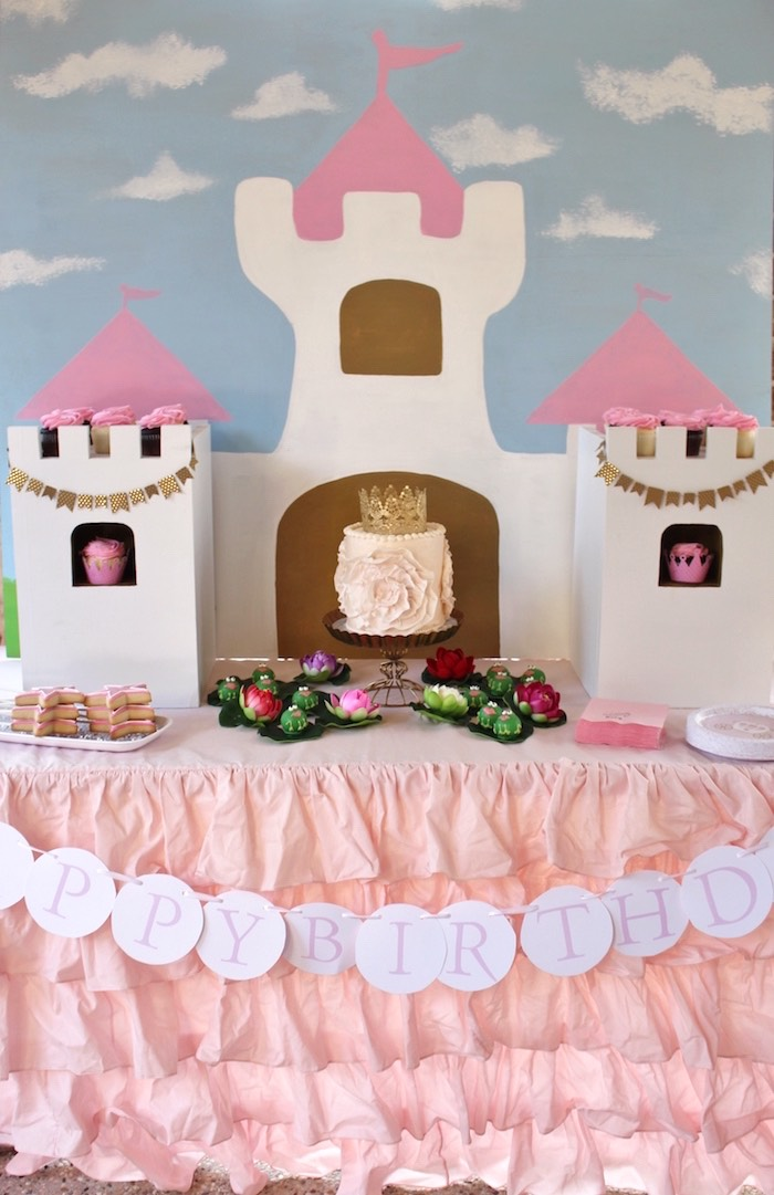 Main Table from a Princess Birthday Party via Kara's Party Ideas | KarasPartyIdeas.com (14)