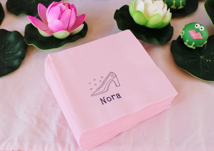 Napkins from a Princess Birthday Party via Kara's Party Ideas | KarasPartyIdeas.com (12)