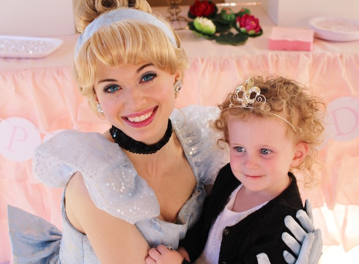 Cinderella + Birthday Girl from a Princess Birthday Party via Kara's Party Ideas | KarasPartyIdeas.com (11)