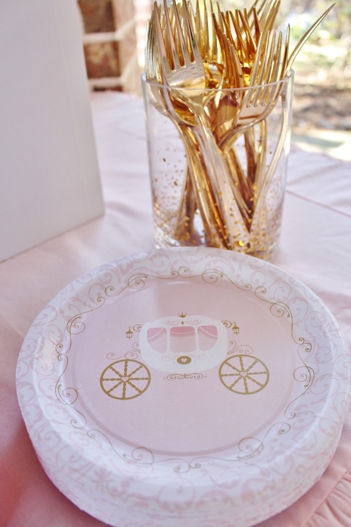 Plates + Forks from a Princess Birthday Party via Kara's Party Ideas | KarasPartyIdeas.com (7)