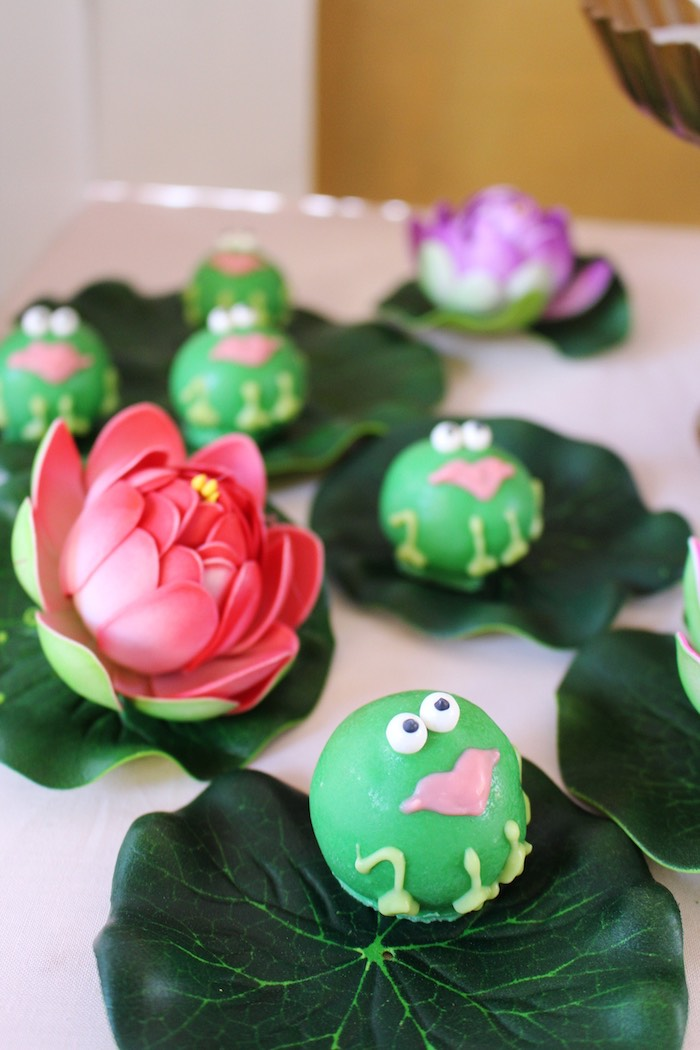 Princess Frog Cake Balls from a Princess Birthday Party via Kara's Party Ideas | KarasPartyIdeas.com (34)