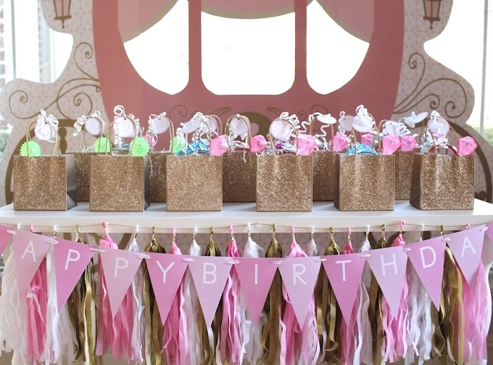 Favor Table from a Princess Birthday Party via Kara's Party Ideas | KarasPartyIdeas.com (6)