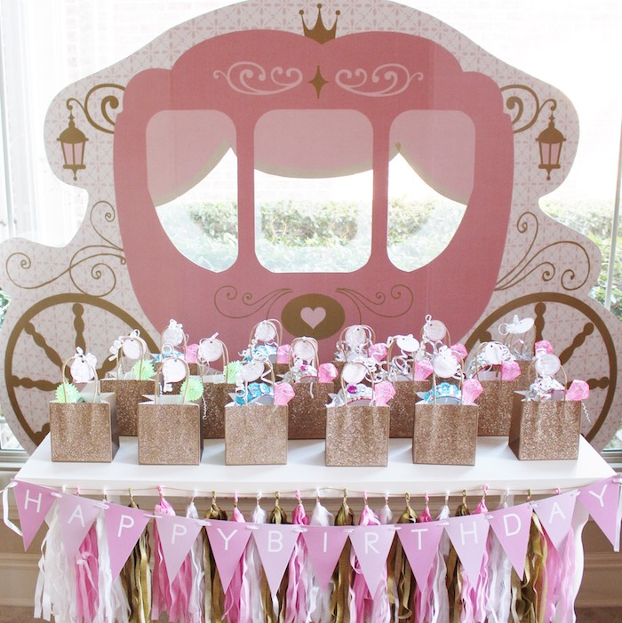 Favor Table from a Princess Birthday Party via Kara's Party Ideas | KarasPartyIdeas.com (5)