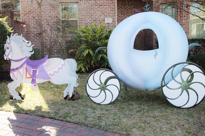 Carriage from a Princess Birthday Party via Kara's Party Ideas | KarasPartyIdeas.com (4)