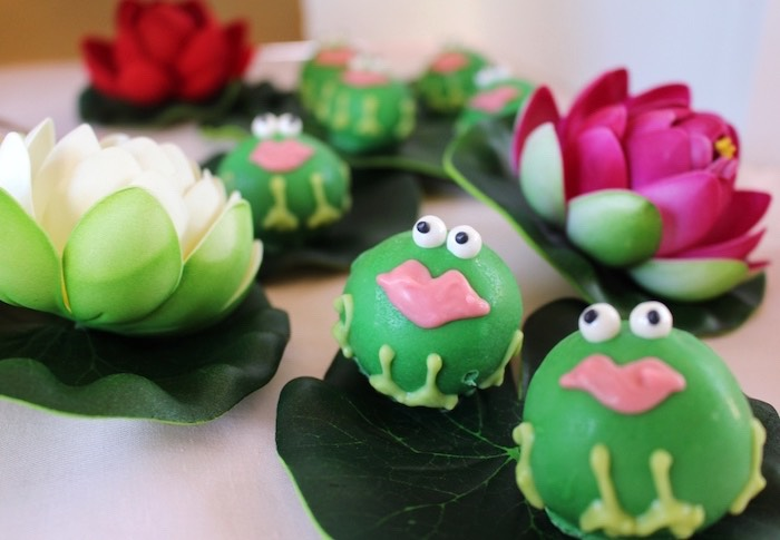 Princess Frog Cake Balls from a Princess Birthday Party via Kara's Party Ideas | KarasPartyIdeas.com (33)