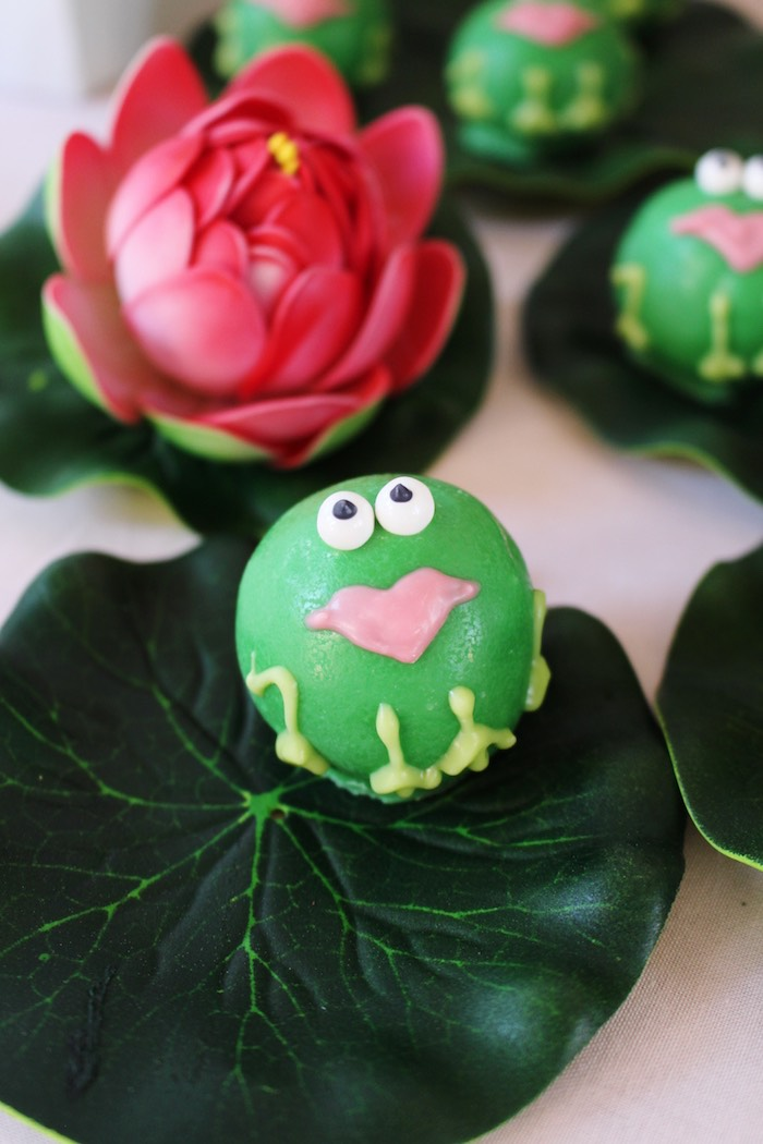 Princess Frog Cake Balls from a Princess Birthday Party via Kara's Party Ideas | KarasPartyIdeas.com (32)