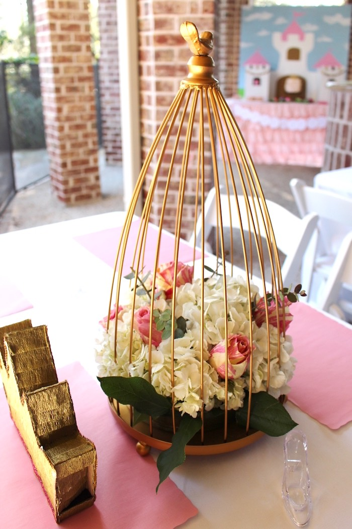 Centerpiece from a Princess Birthday Party via Kara's Party Ideas | KarasPartyIdeas.com (30)