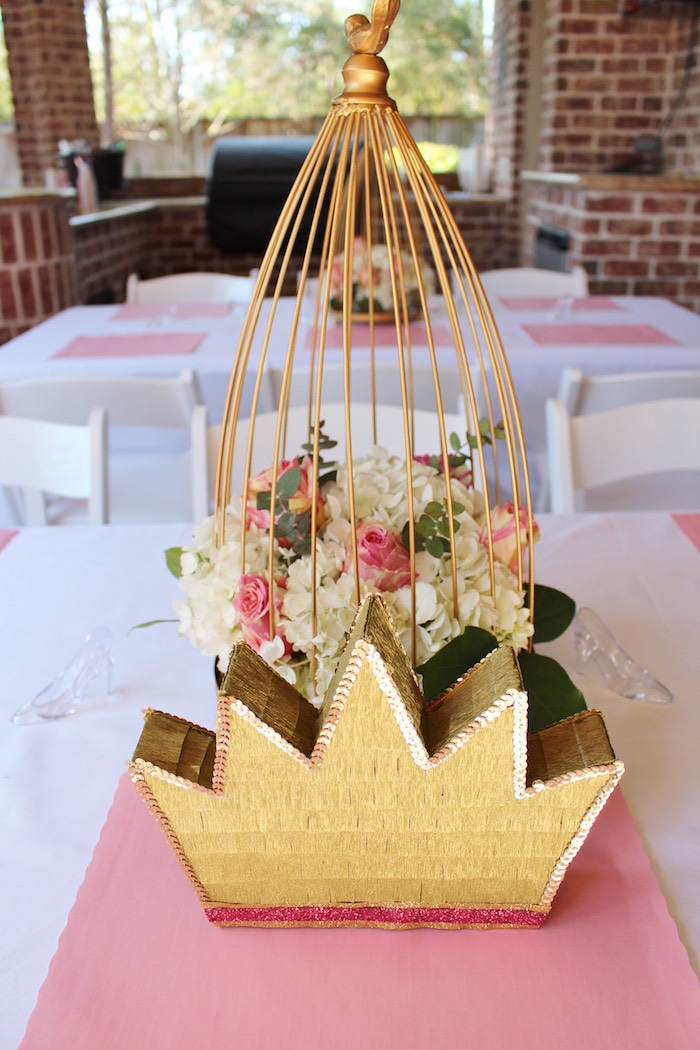 Guest Table + Centerpieces from a Princess Birthday Party via Kara's Party Ideas | KarasPartyIdeas.com (29)