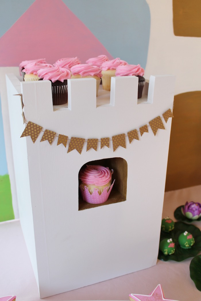 Cupcake Tower from a Princess Birthday Party via Kara's Party Ideas | KarasPartyIdeas.com (27)