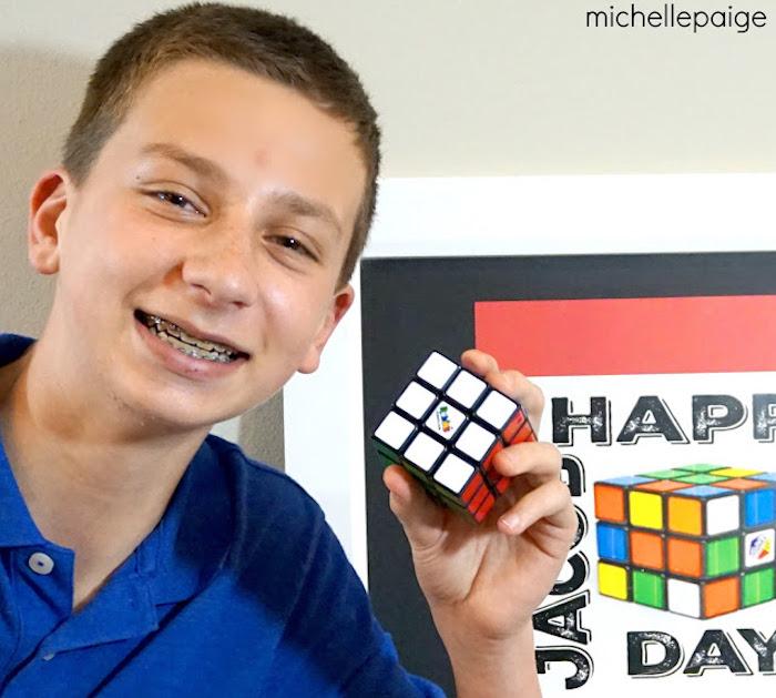 Birthday Boy from a Rubik's Cube Themed Birthday Party via Kara's Party Ideas KarasPartyIdeas.com (6)