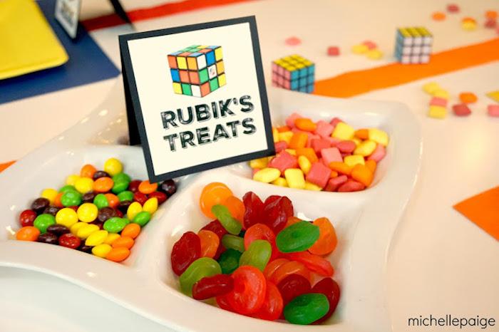 Treats from a Rubik's Cube Themed Birthday Party via Kara's Party Ideas KarasPartyIdeas.com (4)