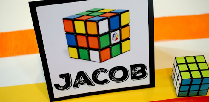 Stationery from a Rubik's Cube Themed Birthday Party via Kara's Party Ideas KarasPartyIdeas.com (1)