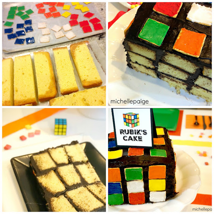 Cake Preparation Details from a Rubik's Cube Themed Birthday Party via Kara's Party Ideas KarasPartyIdeas.com (18)