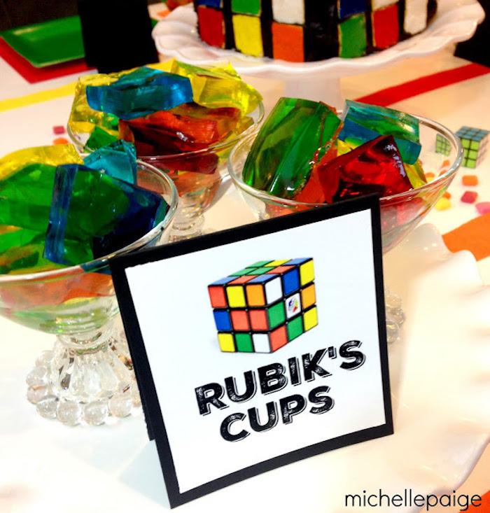 Kara S Party Ideas Rubik S Cube Themed Birthday Party