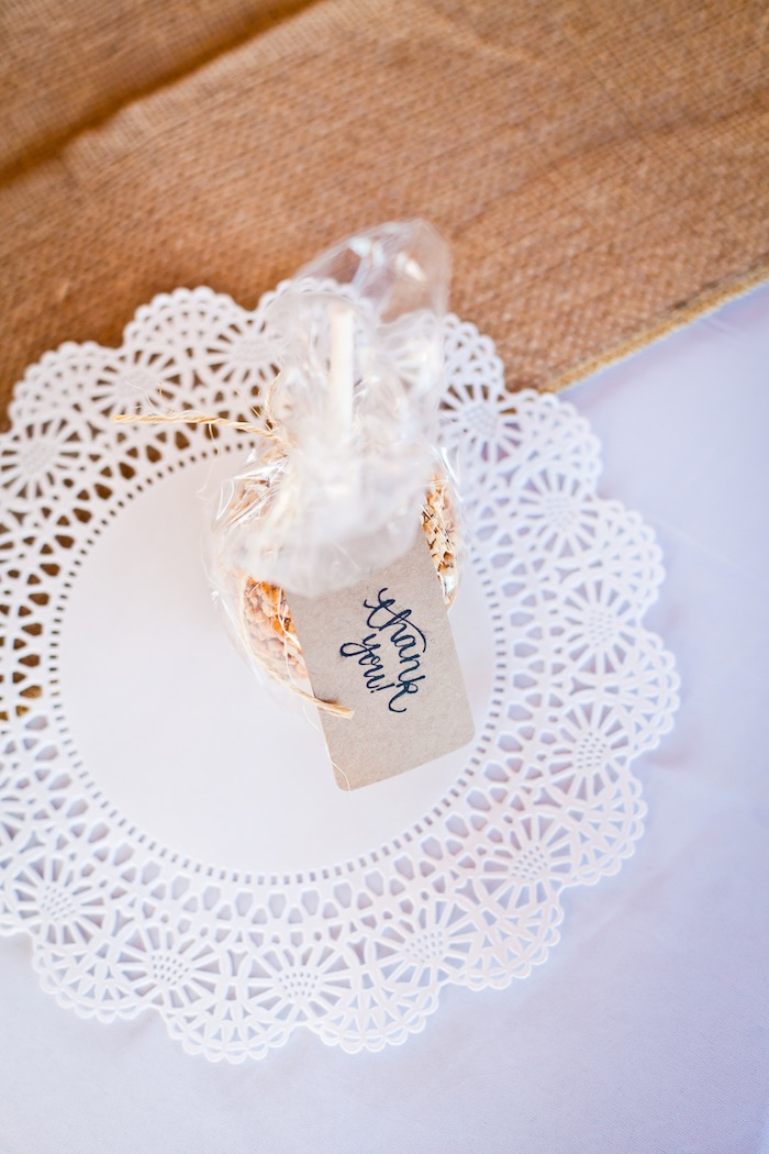 Place Setting from a Rustic Floral 1st Birthday Party via Kara's Party Ideas! KarasPartyIdeas.com (21)