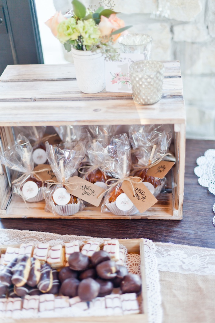 Favors from a Rustic Floral 1st Birthday Party via Kara's Party Ideas! KarasPartyIdeas.com (13)