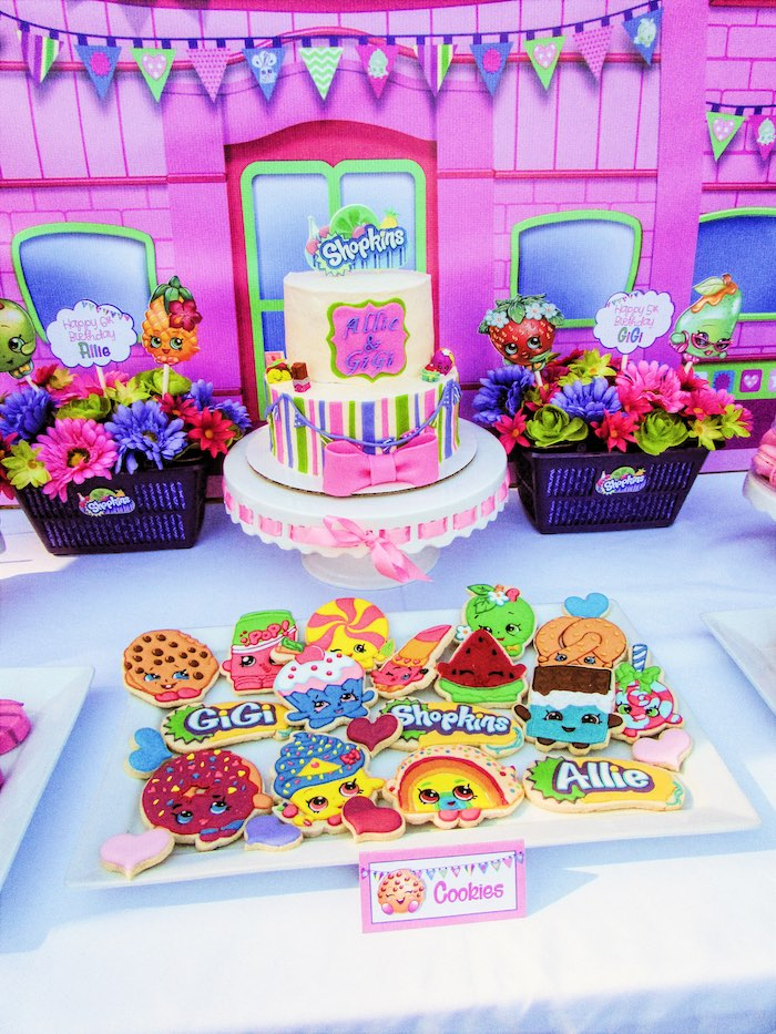 Kara 39 s party ideas colorful shopkins birthday party kara for 13 ka table