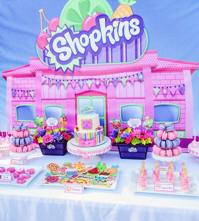 Sweet Table from a Shopkins Birthday Party via Kara's Party Ideas | KarasPartyIdeas.com (12)
