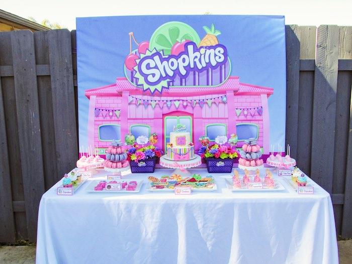 Head Table from a Shopkins Birthday Party via Kara's Party Ideas | KarasPartyIdeas.com (11)