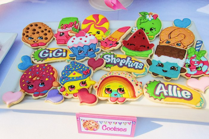 Cookies from a Shopkins Birthday Party via Kara's Party Ideas | KarasPartyIdeas.com (10)
