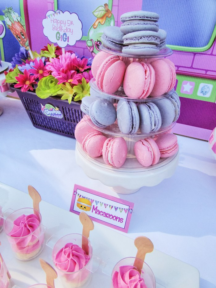 Macarons from a Shopkins Birthday Party via Kara's Party Ideas | KarasPartyIdeas.com (8)