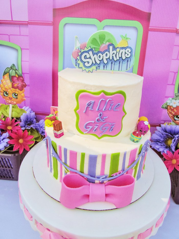 Cake from a Shopkins Birthday Party via Kara's Party Ideas | KarasPartyIdeas.com (7)