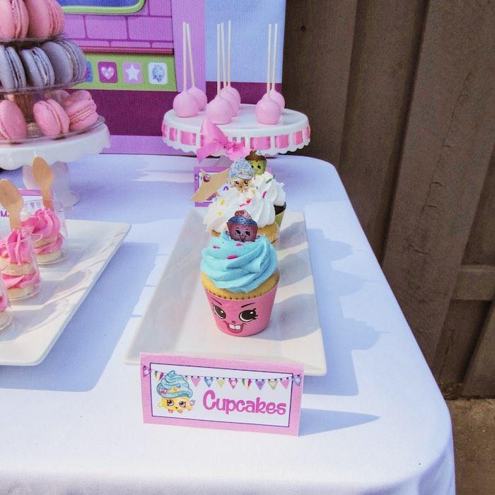 Cupcakes from a Shopkins Birthday Party via Kara's Party Ideas | KarasPartyIdeas.com (6)
