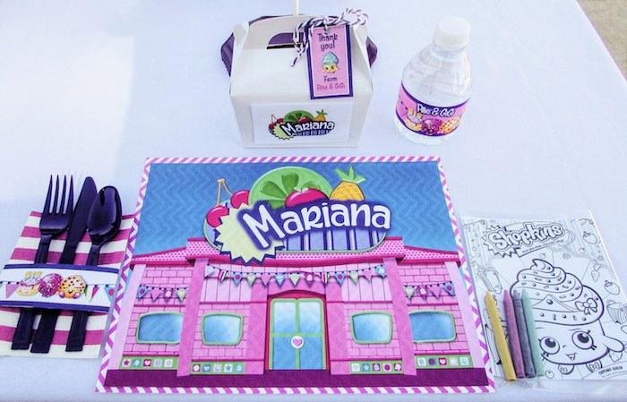 Place Setting from a Shopkins Birthday Party via Kara's Party Ideas | KarasPartyIdeas.com (21)