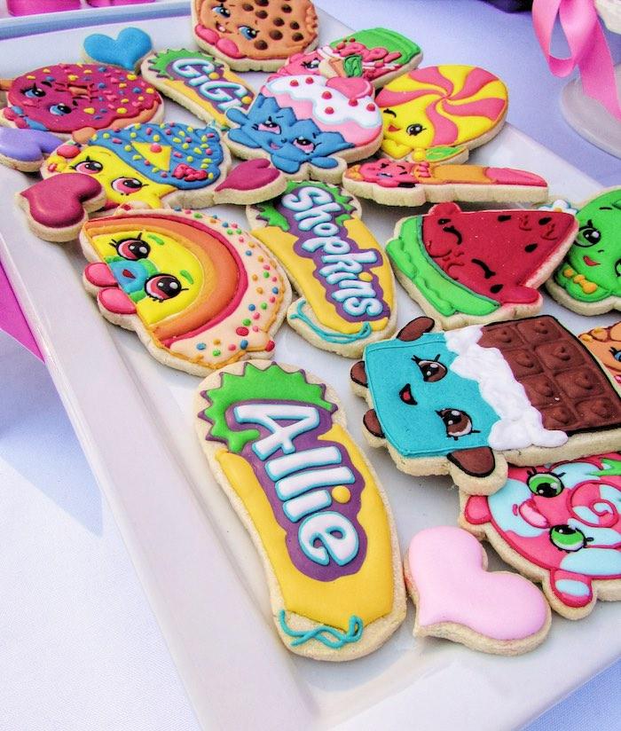 Cookies from a Shopkins Birthday Party via Kara's Party Ideas | KarasPartyIdeas.com (20)