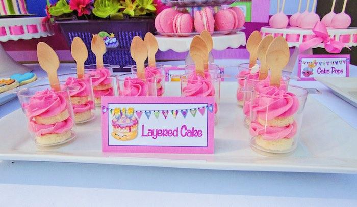 Layered Cake Dessert Cups from a Shopkins Birthday Party via Kara's Party Ideas | KarasPartyIdeas.com (19)