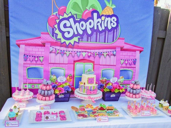 Sweet Table from a Shopkins Birthday Party via Kara's Party Ideas | KarasPartyIdeas.com (16)