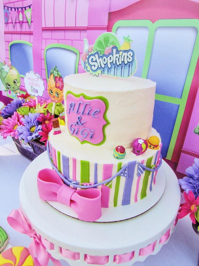 Cake from a Shopkins Birthday Party via Kara's Party Ideas | KarasPartyIdeas.com (15)