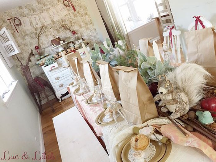 Dining Table Dessert Sweet Display Dresser From A Snow White Enchanted Forest Birthday Party