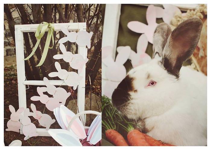 Decor + Bunny from a Spring Easter Brunch Party via Kara's Party Ideas! KarasPartyIdeas.com (22)