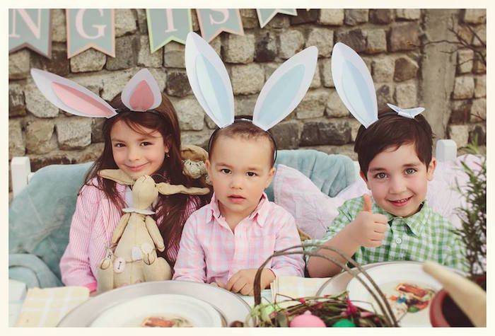 Children from a Spring Easter Brunch Party via Kara's Party Ideas! KarasPartyIdeas.com (16)