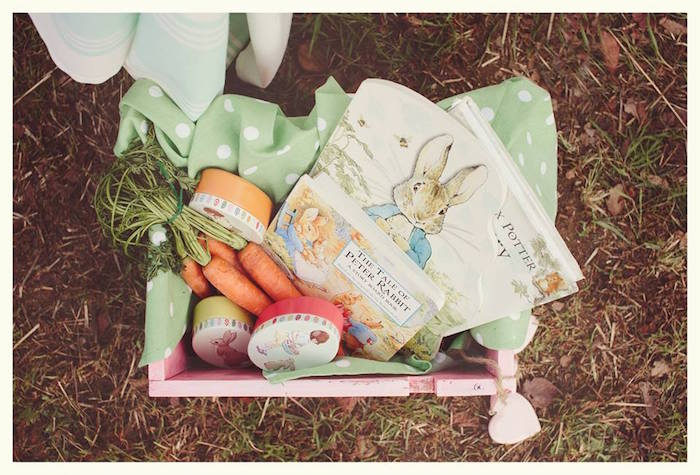 Carrots + Books from a Spring Easter Brunch Party via Kara's Party Ideas! KarasPartyIdeas.com (32)