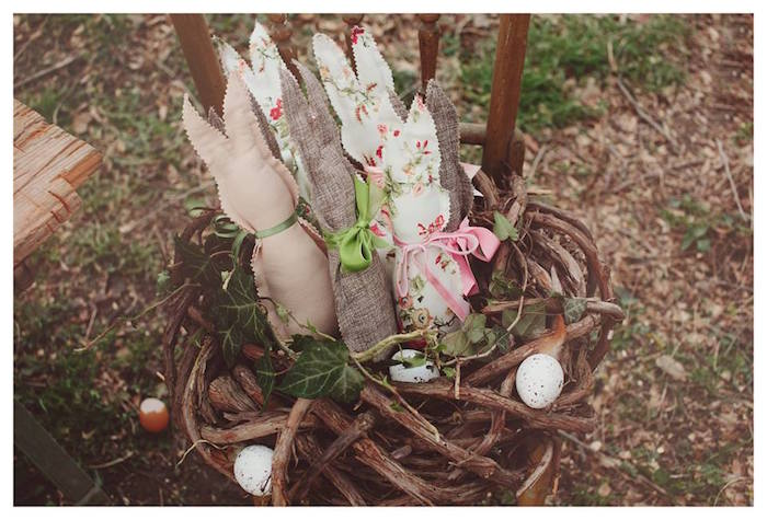 Bunny Decor from a Spring Easter Brunch Party via Kara's Party Ideas! KarasPartyIdeas.com (10)