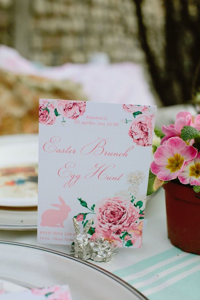 Invitation from a Spring Easter Brunch Party via Kara's Party Ideas! KarasPartyIdeas.com (31)
